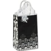"""Paper 8.25""""H x 5.25""""W x 3.5""""D Versailles Shopper Bags, Multicolor, 25/Pack"""