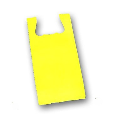 23in. x 11 1/2in. x 7in. Unprinted T-Shirt Bags, Yellow