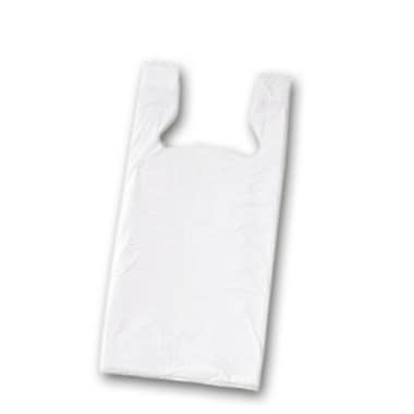32in. x 18in. x 9in. Unprinted T-Shirt Bags, White
