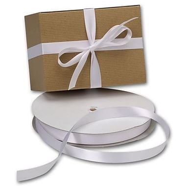 5/8in. x 100 yds. Double Face Satin Ribbon, White