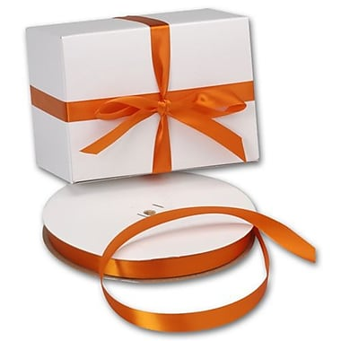 5/8in. x 100 yds. Double Face Satin Ribbon, Orange