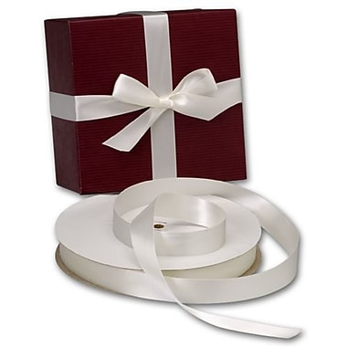 7/8in. x 100 yds. Double Face Satin Ribbon, Antique White