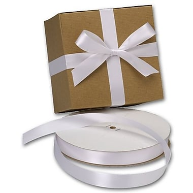 7/8in. x 100 yds. Double Face Satin Ribbon, White