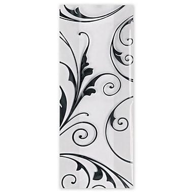 5in. x 3in. x 11 1/2in. Jewel Cello Bags, Black/White