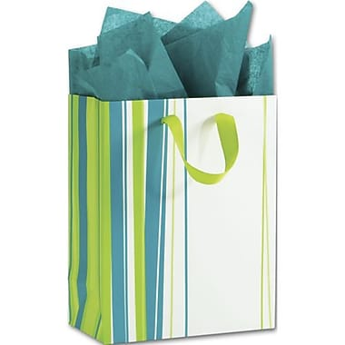 8in. x 4in. x 10in. Lucky Lines Euro-Shoppers, Lime Green