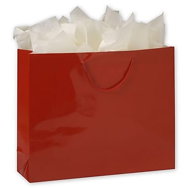 16in. x 4 3/4in. x 13in. Gloss Laminated Euro-Shoppers, Red