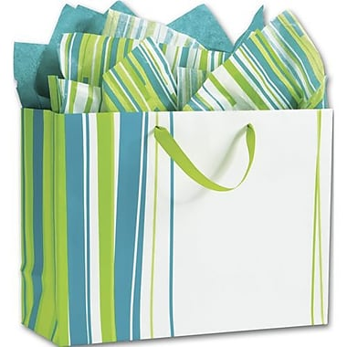 16in. x 6in. x 12in. Lucky Lines Euro-Shoppers, Lime Green