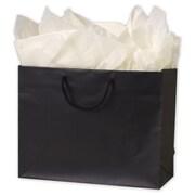 """Paper 10""""H x 13""""W x 5""""D Euro-Shopper Bags, Black, 100/Pack"""