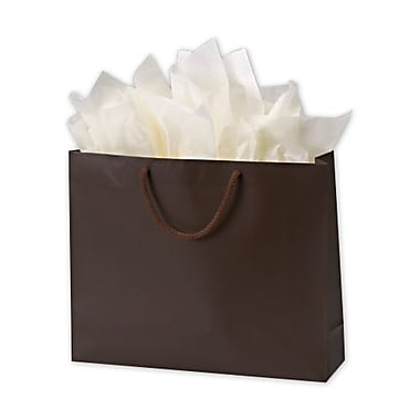 10in. x 13in. x 5in. Matte Laminated Euro-Shoppers, Chocolate