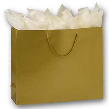 13in. x 16in. x 4 3/4in. Matte Laminated Euro-Shoppers, Gold
