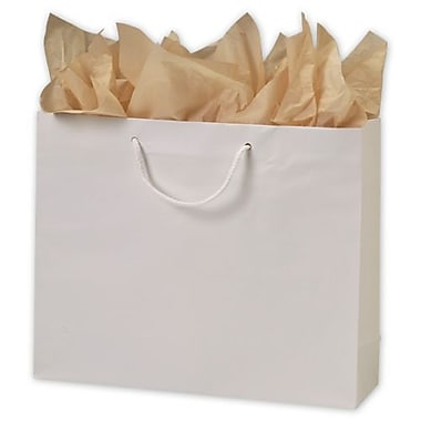 13in. x 16in. x 4 3/4in. Matte Laminated Euro-Shoppers, White