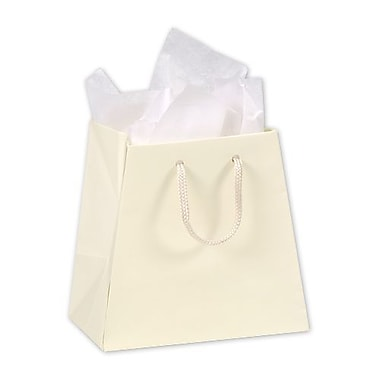 6in. x 4 1/2in. Matte Laminated Inverted Trapezoid Euro-Shoppers, Ivory