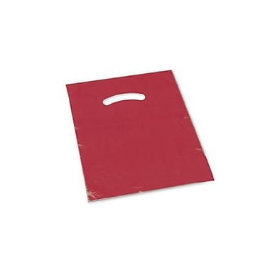9in. x 12in. Die-Cut Handle Bags, Red