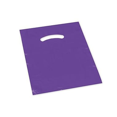 9in. x 12in. Die-Cut Handle Bags, Purple
