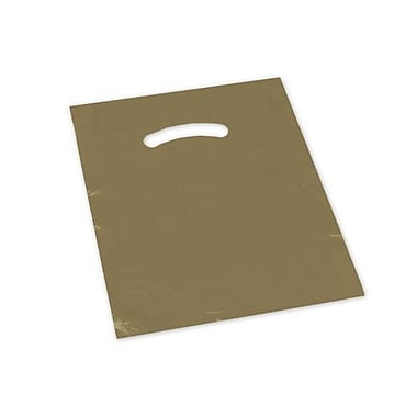 9in. x 12in. Die-Cut Handle Bags, Gold