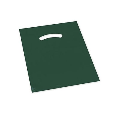 9in. x 12in. Die-Cut Handle Bags, Hunter Green