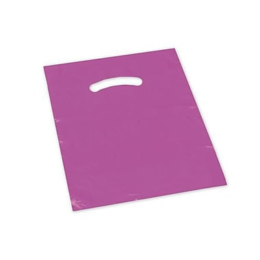 9in. x 12in. Die-Cut Handle Bags, Pink