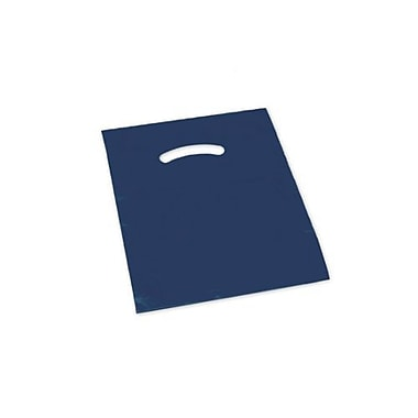 9in. x 12in. Die-Cut Handle Bags, Navy