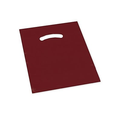 9in. x 12in. Die-Cut Handle Bags, Burgundy