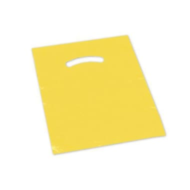 9in. x 12in. Die-Cut Handle Bags, Yellow