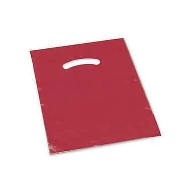 12in. x 15in. Die-Cut Handle Bags, Red