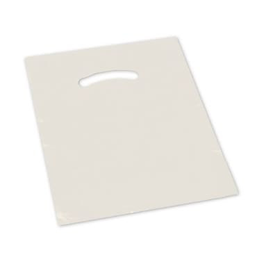 12in. x 15in. Die-Cut Handle Bags, Ivory