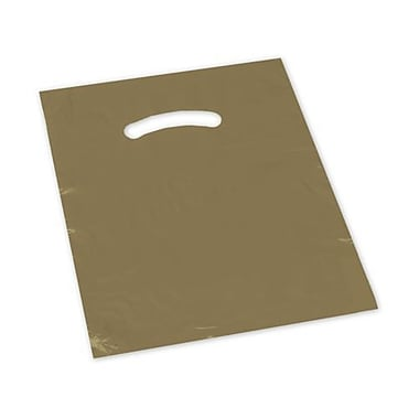 12in. x 15in. Die-Cut Handle Bags, Gold