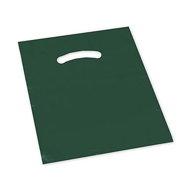 12in. x 15in. Die-Cut Handle Bags, Hunter Green