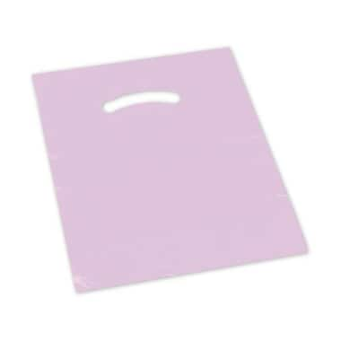12in. x 15in. Die-Cut Handle Bags, Mauve