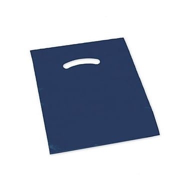 12in. x 15in. Die-Cut Handle Bags, Navy