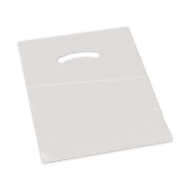 15in. x 18in. + 4in. BG Die-Cut Handle Bags, Clear