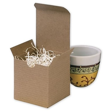 3in. x 3in. x 3in. One-Piece Gift Boxes, Kraft