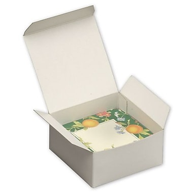 2in. x 4in. x 4in. One-Piece Gift Boxes, White