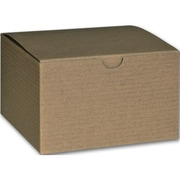 "Kraft Paper 3""H x 5""W x 5""L Gift Boxes, Brown, 100/Pack"