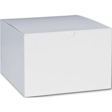 4in. x 6in. x 6in. One-Piece Gift Boxes, White
