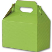 "Kraft Paper 5.25""H x 4.88""W x 8""L Varnish Striped Gable Boxes, Apple Green, 100/Pack"