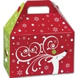 5 1/2in. x 5in. x 8 1/2in. Dashing Reindeer Gable Boxes, Red/Green/White