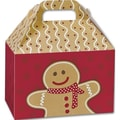 5 1/2in. x 5in. x 8 1/2in. Gingerbread Man Gable Boxes, Red/White/Brown