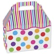 5 1/2in. x 5in. x 8 1/2in. Gumballs Gable Boxes, White/Green/Pink/Blue