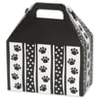 5 1/2in. x 5in. x 8 1/2in. Polka Dot Paws Gable Boxes, Black on White