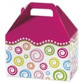 5 1/2in. x 5in. x 8 1/2in. Swirls Gable Boxes, White/Green/Pink/Blue