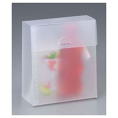 7in. x 3 1/2in. x 8in. Frosted Gusset Boxes, Clear