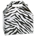 5 1/4in. x 4 7/8in. x 8in. Zebra Gable Boxes, Black/White