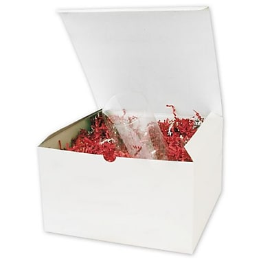 Recycled Board 6in.H x 10in.W x 10in.L Gift Boxes, White, 50/Pack