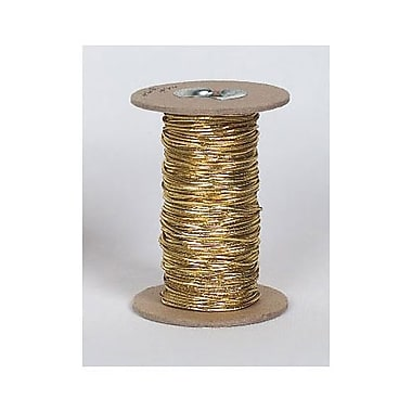 Stretch Cord on Spool, 50 yds., Gold, Each