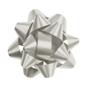 "2 3/4"" Splendorette® Star Bows, Silver"