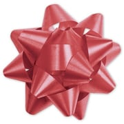 "3 3/4"" Splendorette® Star Bows, Red"