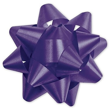 3 3/4in. Splendorette® Star Bows, Purple