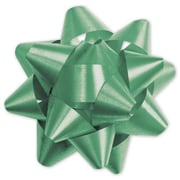 "3 3/4"" Splendorette® Star Bows, Emerald"