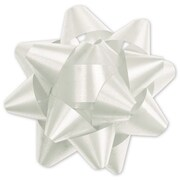 "3 3/4"" Splendorette® Star Bows, White"